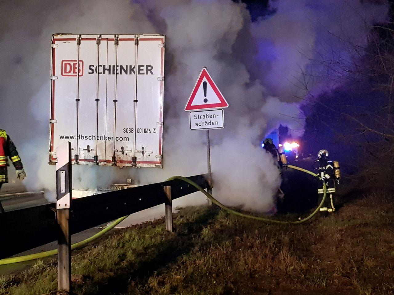LKW-Brand Altwarmbüchen 19.01.2018